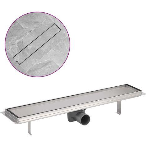 Desagüe lineal de ducha de acero inoxidable 630x140 mm