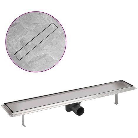 Desagüe lineal de ducha de acero inoxidable 730x140 mm