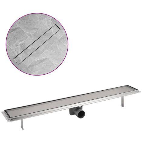 Desagüe lineal de ducha de acero inoxidable 830x140 mm