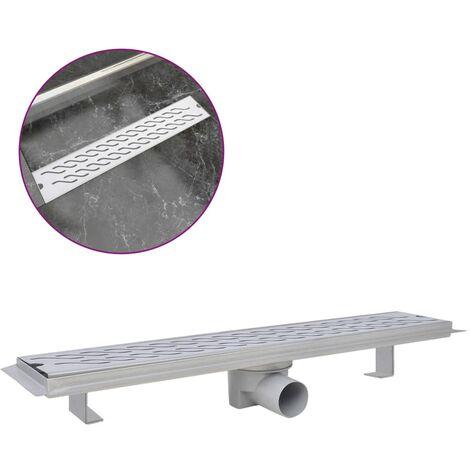 Desagüe lineal de ducha ondas 630x140 mm acero inoxidable