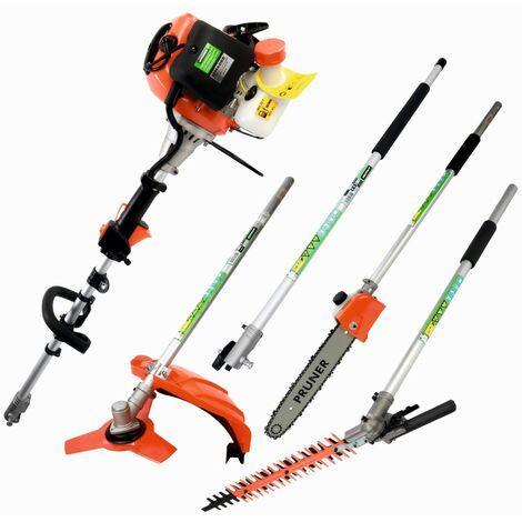 Desbrozadora Multifunción 5 en 1, con Podadora e Cortasetos - 42,7Cc - MADER GARDEN®