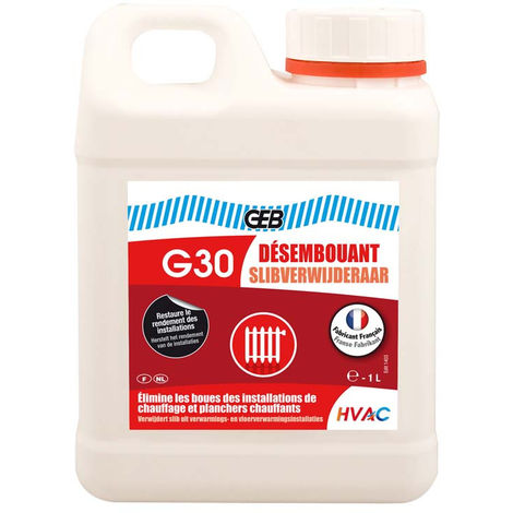 Désembouant G30 pour circuit chauffage 1 litre