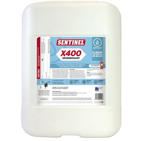Désembouant X400 20l - SENTINEL : X400L-20L-FR