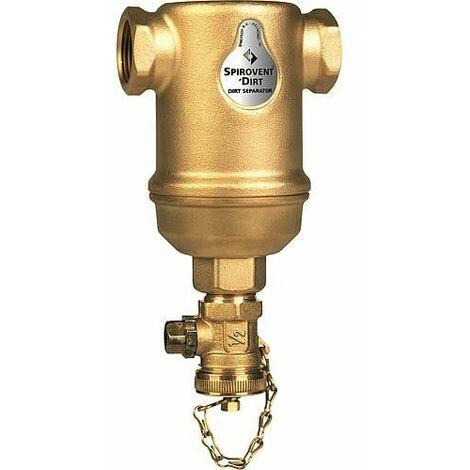 Désemboueur Spirotrap horizontal raccord femelle DN32 (11/4) boitier laiton