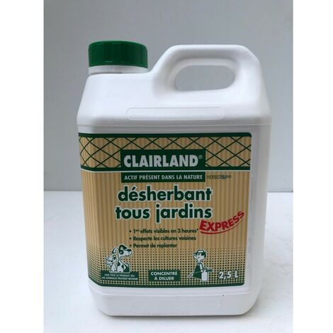 Désherbant Tous jardins concentré 2,5L Clairland