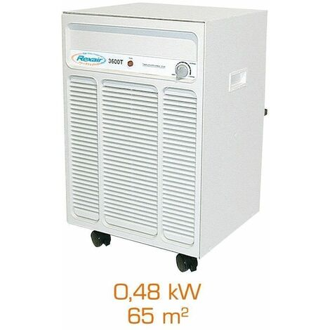 Deshumidificateur d'air mobile Rexair 3600 T - 0,48kW - 65m²
