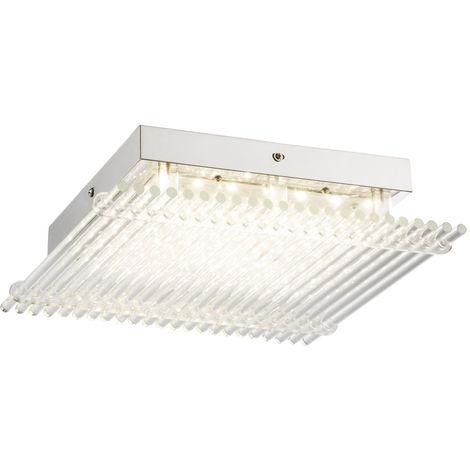 Design a conduit des tiges de verre lampe lampe de plafond chambre radiateur chrome couloir clair Globo 49248-18