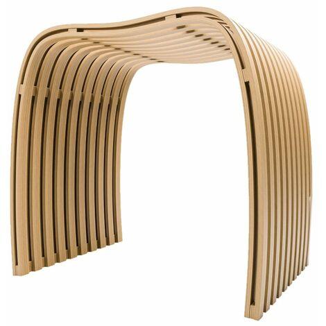 Design Badhocker aus Bambus Natur, Echtholz, hohe Qualität, bis 130 Kg