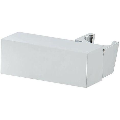 Design-Brause-Wandhalter beweglich - quadratische Ausführung - chrom