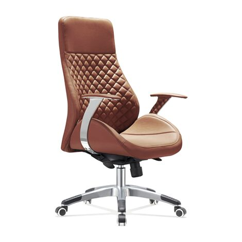 Design-Bürostuhl Bologna - Luxus fürs Office - Cognac