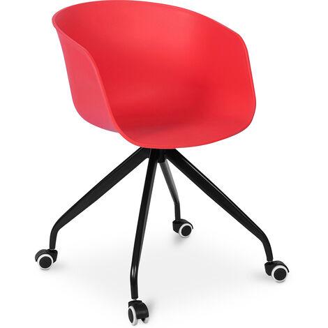 Design Bürostuhl mit Armlehnen und Rädern
