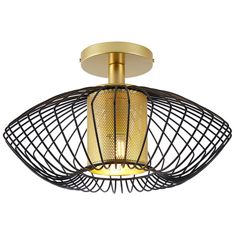 Design ceiling lamp gold with black - Dobrado