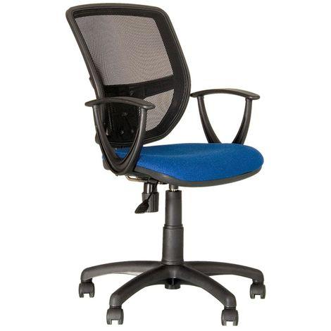 Ergonomischer Dreh Stuhl Büro Schreibtisch Chef Sessel Gaslift blau Nowy Styl GTP