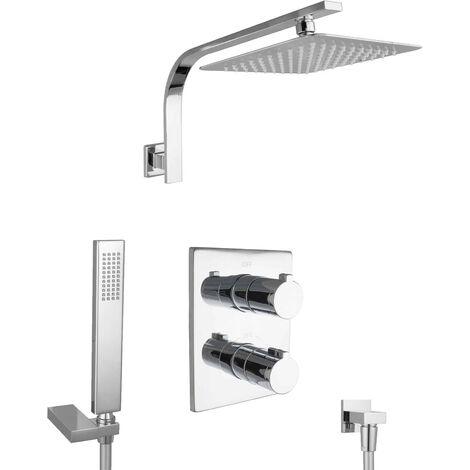 Design Dusch Set mit Thermostat Unterputz Regendusche