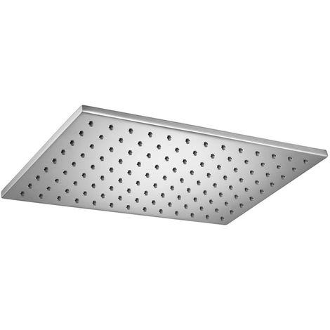 Design Dusche Regenschauer Duschkopf 15x15cm eckig Quadratisch Chrom Sanlingo