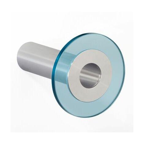 Design-Garderobenhaken POINT | Hakenlänge 100 mm | Transparent-Blau | Pador