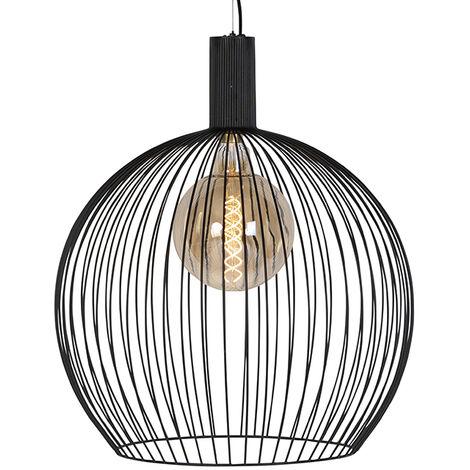Design hanging lamp black 60 cm - Wire Dos