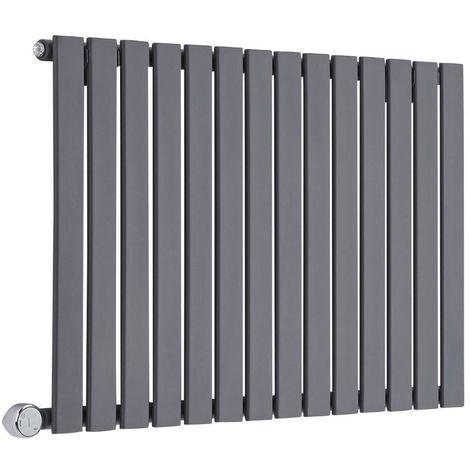 Design Heizkörper Elektrisch Horizontal Einlagig Anthrazit 635mm x 980mm inkl. ein 600W Heizelement - Delta