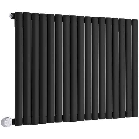 Design Heizkörper Elektrisch Horizontal Einlagig Schwarz 635mm x 1000mm inkl. ein 1000W Heizelement - Revive