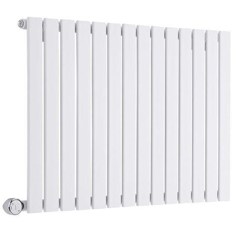 Design Heizkörper Elektrisch Horizontal Einlagig Weiß 635mm x 980mm inkl. ein 600W Heizelement - Delta