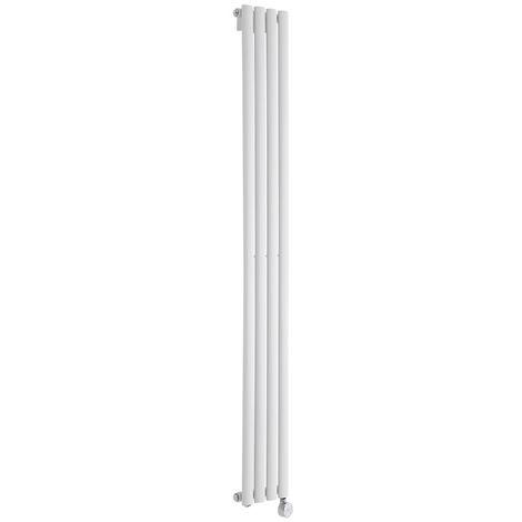 Design Heizkörper Elektrisch Vertikal Einlagig Weiß 1780mm x 236mm inkl. ein 600W Heizelement - Revive
