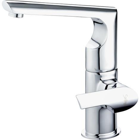 Design Küchen Wasserhahn Armatur Einhebel Chrom Spülbecken Küche Sanlingo  Serie MAILAND