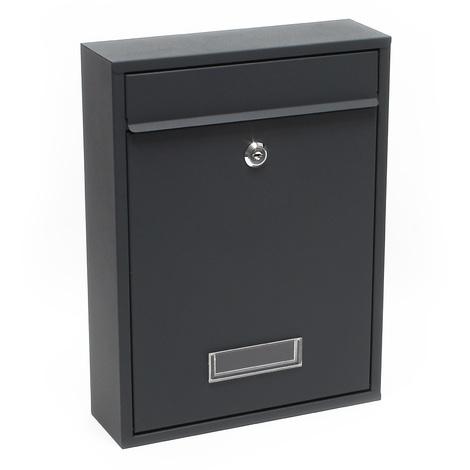 Design Mailbox V11 anthracite Letterbox Postbox Pillar Letter Mail Post Box