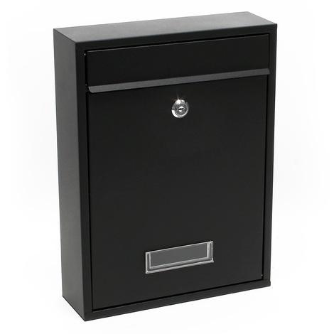 Design Mailbox V11 black Letterbox Postbox Pillar Letter Mail Post Box