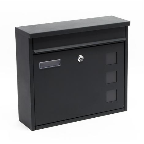 Design Mailbox V12 anthracite Letterbox Postbox Pillar Letter Mail Post Box