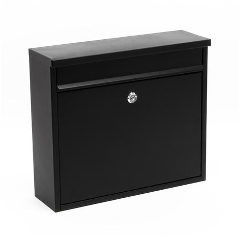 Design Mailbox V13 black Letterbox Postbox Pillar Letter Mail Box