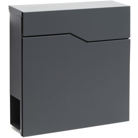 Design Mailbox V19 anthracite Newspaper Compartment Wall Letterbox Postbox powder coated