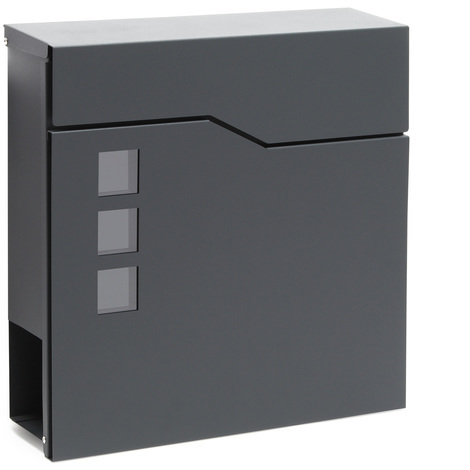 Design Mailbox V20 anthracite Newspaper Compartment Wall Letterbox Postbox powder coated