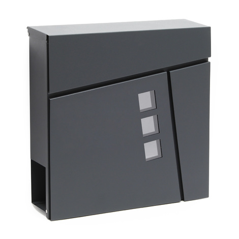 Design Mailbox V24 anthracite Newspaper Compartment Wall Letterbox Postbox powder coated