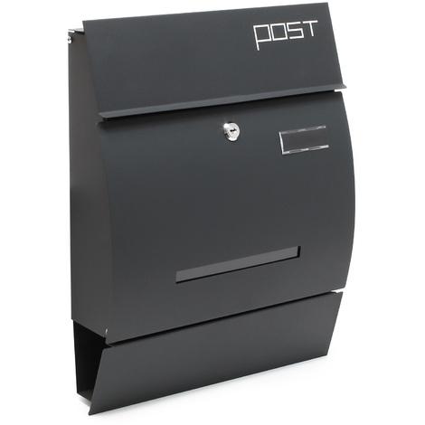 Design Mailbox V4 anthracite Letterbox Postbox Pillar Letter Mail Post Box