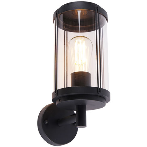 Design outdoor wall lamp black IP44 - Schiedam