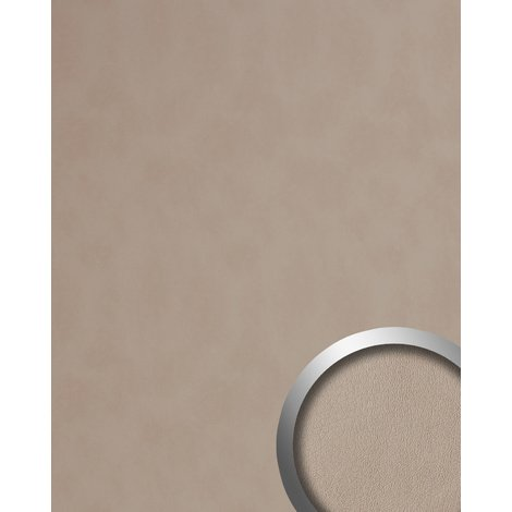 Design Panelling leather look WallFace 19023 STONY GROUND smooth Wall panel nappa leather look matt self-adhesive beige 2.6 m2