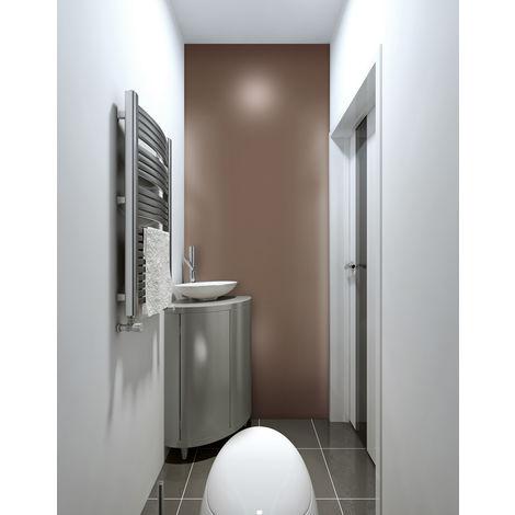 Design panelling metal look WallFace 19605 Brown matt smooth Wall panel unicoloured matt self-adhesive abrasion resistant brown 2.6 m2