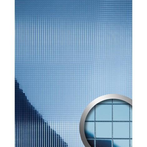 Design revêtement mural auto-adhésif Aimantin Miroir WallFace 10603 M-STYLE en mosaïque souple bleu glacé 0,96 m2