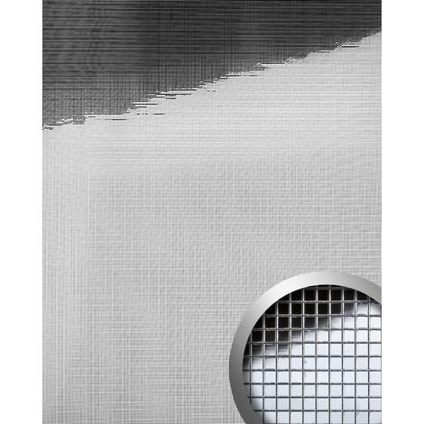 Design revêtement mural auto-adhésif Aimantin Miroir WallFace 10650 M-STYLE en mosaïque souple argent 0,96 m2