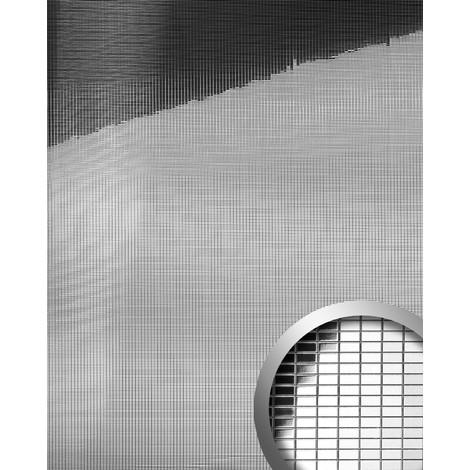 Design revêtement mural auto-adhésif Aimantin Miroir WallFace 10652 M-STYLE en mosaïque souple argent 0,96 m2