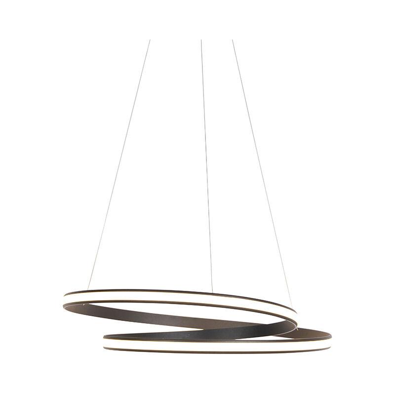 Qazqa - Moderne Hängelampe schwarz 74cm inkl. LED 3 Stufen dimmbar - Rowan