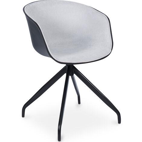 Design Schwarz gepolsterter Bürostuhl