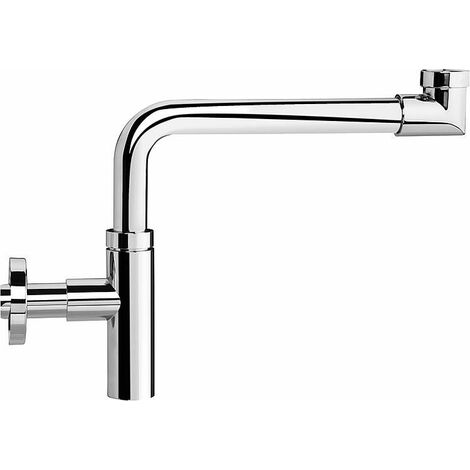 "Design - siphon gain de place DN32 (1 1/4""), 32x100 mm laiton chrome"