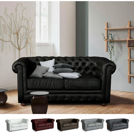 Design Sofa in PU Leather 2 Seater CHESTERFIELD