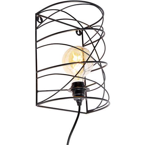 Design wall lamp black - Spira