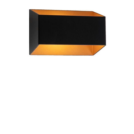 Design wall lamp black with gold - Alone S