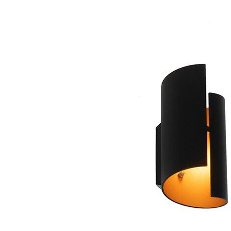 Design wall lamp black with gold - Faldo
