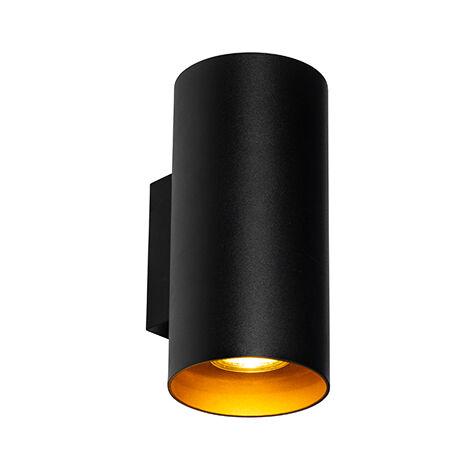 Design wall lamp black with gold - Sab