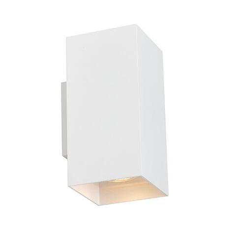 Design wall lamp white square - Sab