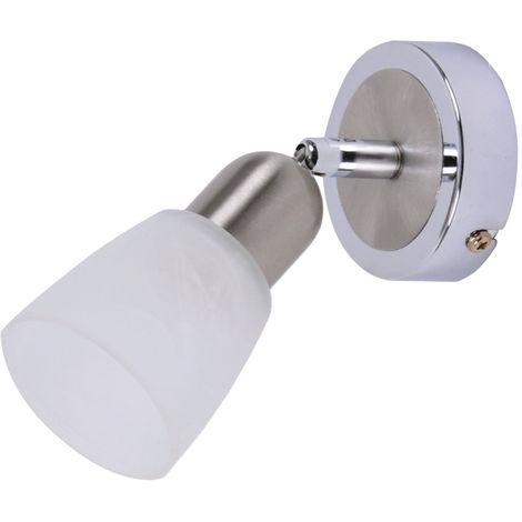 Design Wand Leuchte Spot Lampe beweglicher Strahler weiß Beleuchtung Wohnzimmer